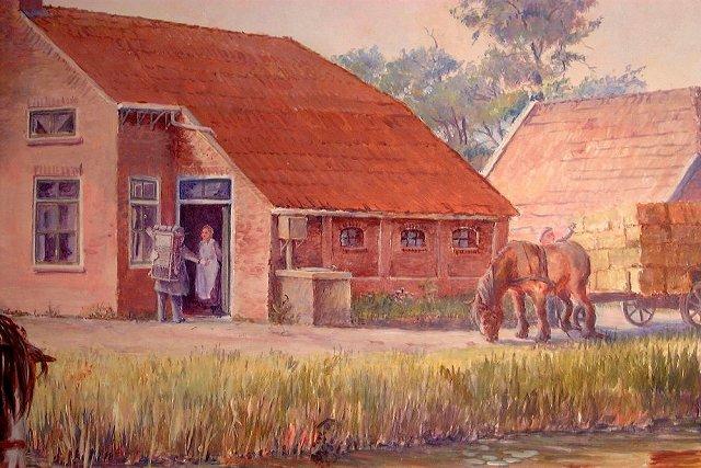 Oud veenkoloniaal dorpsgezicht (detail)
