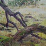 Prehistorisch landschap (detail)ch landschap ca 7000 voor chr. 450 x 1300 cm