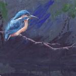 IJsvogel, acrylverf, 30 x 30 cm, 2005