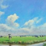 Friese koeien, acrylverf, 100 x 70 cm, 2005