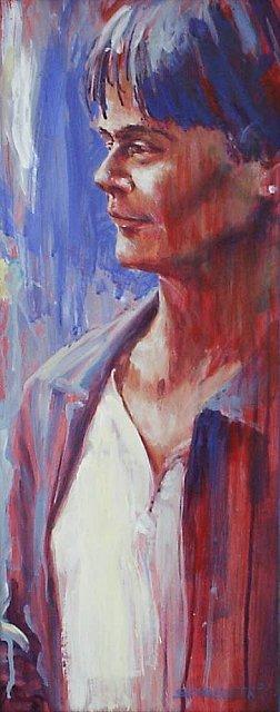 Vrouw, acrylverf, 35 x 70 cm, 2001