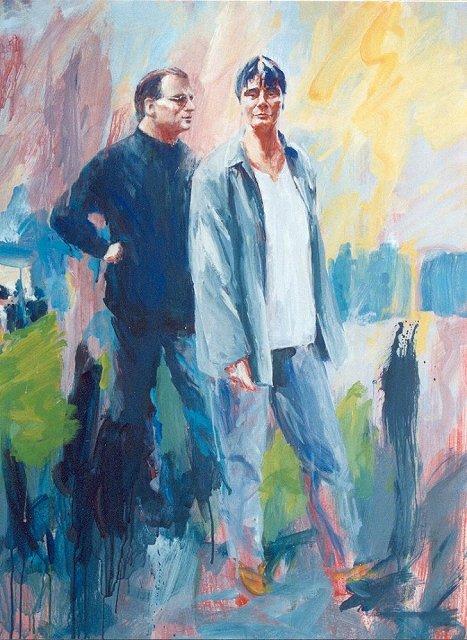 Paar, acrylverf, 110 x 85 cm, 2001