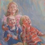 Kinderen B., acrylverf, 81 x 81 cm, 2010