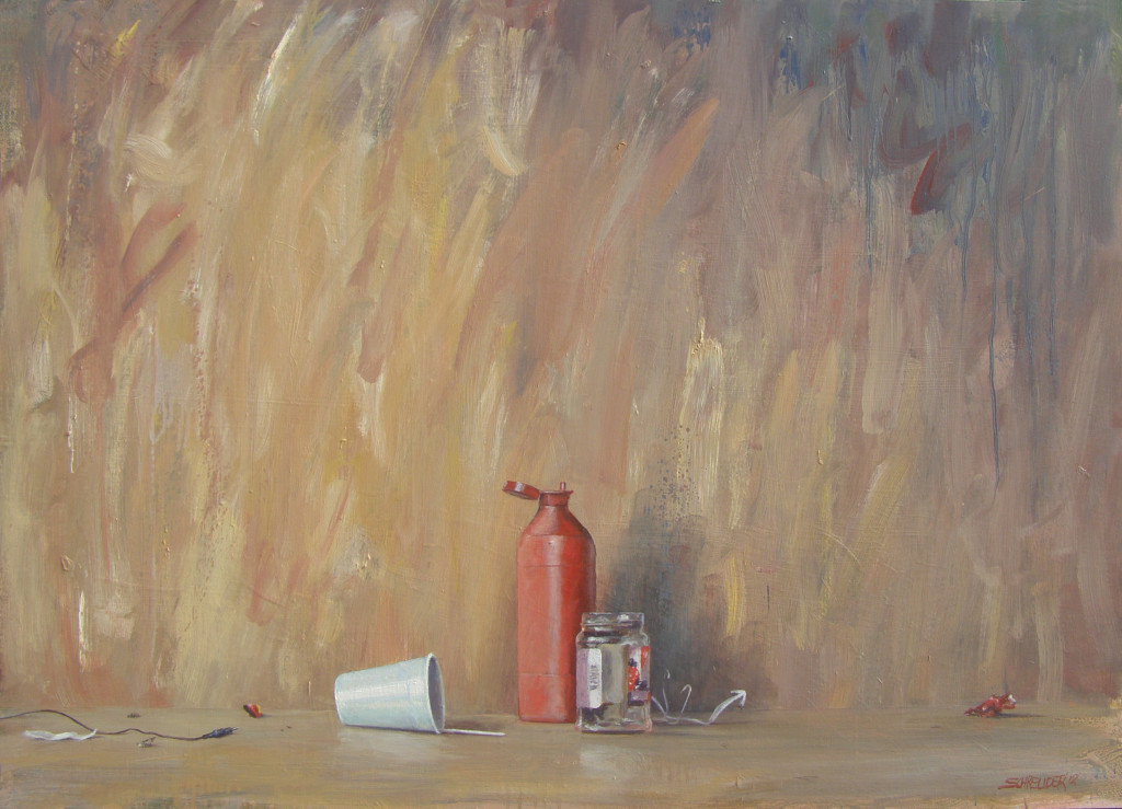 Stilleven met ketchupfles, olieverf, 110 x 81 cm 2012