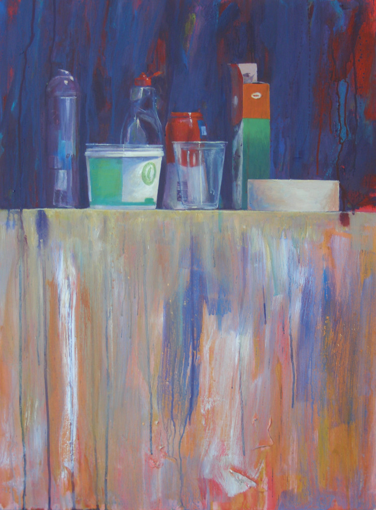 Keukenstilleven, acryl, 41 x 82 cm 2012