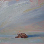 Dode winterkoning, acryl 37 x 24 cm 2012