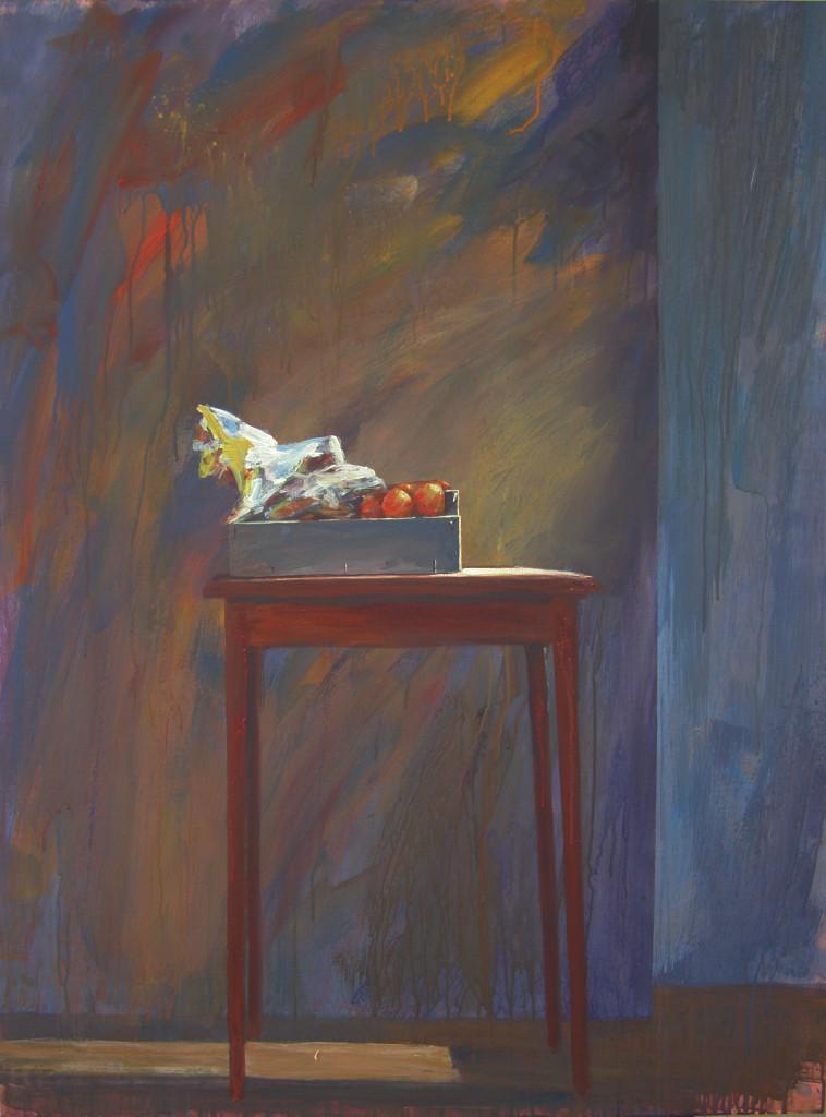 Appels en manderijnen, acryl, 120 x 82 cm 2012